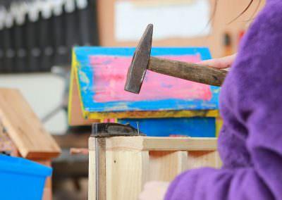 Werkeln in der Holzwerkstatt