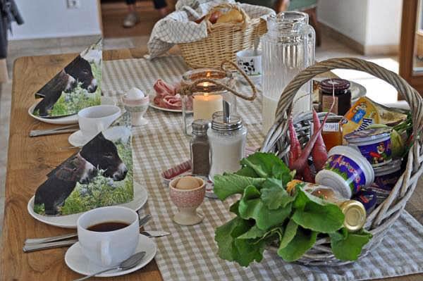 Leckerer Frühstückskorb auf dem Springerhof