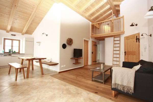 Wohnbereich in der komfortablen Ferienwohnung Amelie