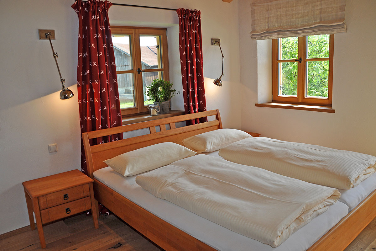 Eines unserer urgemütlichen Schlafzimmer auf dem Springerhof