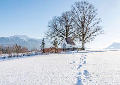 Winterimpessionen - Aussicht zur Kampenwand