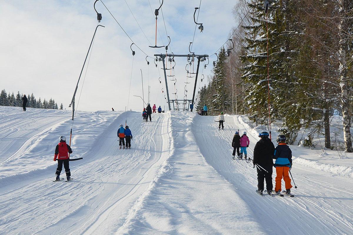 Wintervergnügen auf den Skipisten